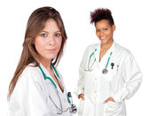 Couple of doctors girls — Stock Photo