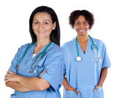 Dwie kobiety lekarz — Zdjęcie stockowe