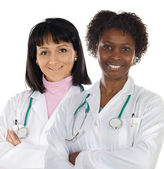 Couple of doctors girl — Stock Photo
