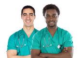 Couple of doctors — Stock Photo