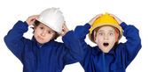 Future workers with expensive surprise — Stock Photo