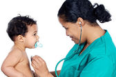 Young pediatrician with baby — Stock Photo