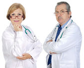 Couple of seniors doctors — Stock Photo