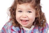 Smiling baby girl — Stock Photo