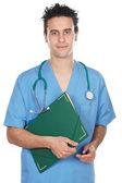 Attractive medicine student — Stock Photo
