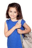 Uczeń dziewczynka z plecakiem — Zdjęcie stockowe