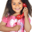 Girl speaking on the telephone — Stock Photo