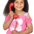 Girl speaking on the telephone — Stockfoto