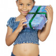 Stock Photo: Girl giving a gift
