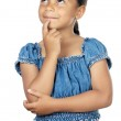 Adorable girl thinking — Stock Photo