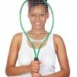 Exotic african tennis player — Stock Photo #9631031