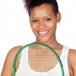 Exotic african tennis player — Stock Photo #9631034