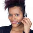 African girl with headphone — Stock Photo #9631138