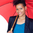 African girl with a umbrella — Stock Photo #9631139