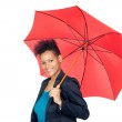 African girl with a umbrella — Stock Photo #9631143