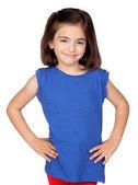 Brunette little girl — Stock Photo