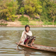 Stock Photo: Sailing LaotiWoman
