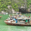 Stock Photo: Fishing Boats in Halong Bay
