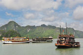 Pleasure Boats in Halong Bay — Stock Photo