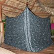 Tent in Jungle House — Stock Photo