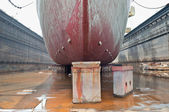 Ship in Dry Dock — Foto Stock