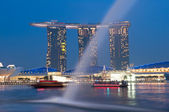 Marina bay sands på natten — Stockfoto
