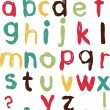 Stock Vector: Vector childish alphabet