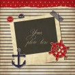 Stock vektor: Nautical vintage card