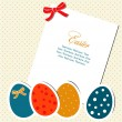 Easter card with eggs — Stock Vector