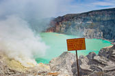 Kawah Ijen volcano, Java, Indonesia — Stock Photo