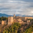 Stock Photo: Panoramview of Alhambrpalace, Granada, Spain