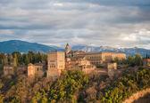 Vista panorámica de la alhambra palace, granada, España — Foto de Stock