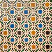 Tile decoration, Alhambra palace, Spain — Stock Photo