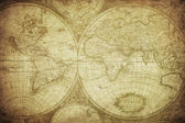 Vintage map of the world 1675 — Stock Photo