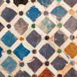 Tile decoration, Alhambra palace, Spain — Stock Photo #10692640