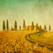 Vintage tuscan landscape — Stock Photo #9322922