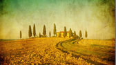 Vintage tuscan landscape — Stock Photo