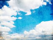 Retro obrázek zamračená obloha — Stock fotografie