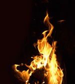 Highly detailed image of fire — Stock Photo