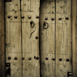 Stock Photo: Close-up image of ancient doors