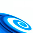Abstract blue swirl background — Stock Photo