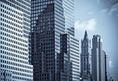 Skyscrapers of manhattan — Stock Photo