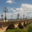 Pont de pierre, Bordeaux, France — Stock Photo #9350234