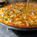 Closeup of paella — Stock Photo #9351319
