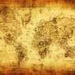 Ancient map of the world — Stockfoto