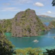 Kayangan lake or blue lagoon, Coron island, Philippines — Stock Photo