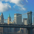 Manhattan and brooklyn bridges, new york, usa — Foto Stock