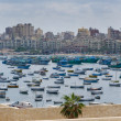 View of Alexandria harbor, Egypt - Stockfoto