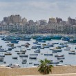 View of Alexandria harbor, Egypt - Stok fotoraf