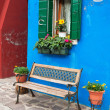Colorful houses of Burano, Venice, Italy - Stock Photo